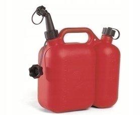 Kanister dwukomorowy TECOMEC 5l+2,5l - czerwony